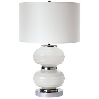Carina Opal White Table Lamp
