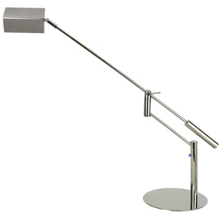 Slant 1-light Silver Task Adjustable Table Lamp