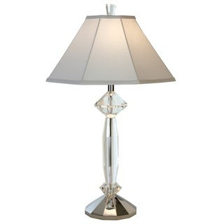 Eloquence Crystal 1-light Polished Chrome Table Lamp