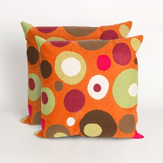Simple Dot Mandarin 20 - inch Decorative Pillow (Set of 2)