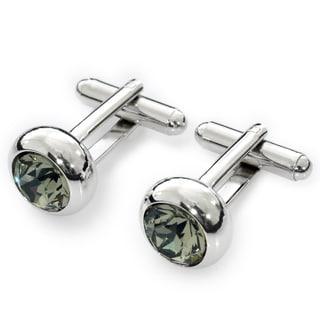 EJ Sutton Classic Grey Crystal Cufflinks (Israel)