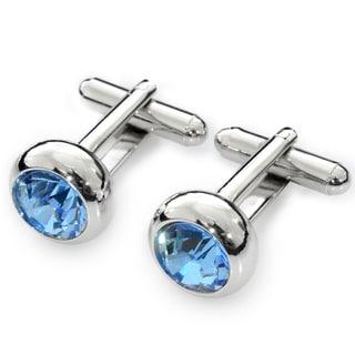 EJ Sutton Classic Blue Crystal Cufflinks (Israel)