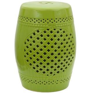 Green Lattice Porcelain Garden Stool (China)