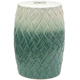 Carved Woven Design Porcelain Garden Stool (China)