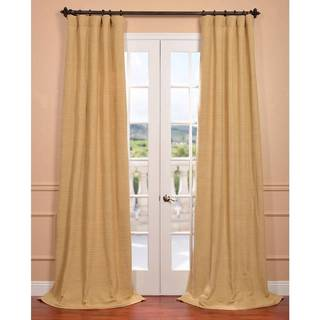 Lemon Grass Hand-woven Cotton Curtain Panel