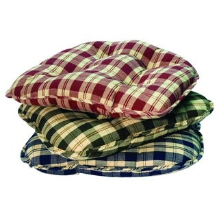 Applegate Plaid Chair Cushions (Set of 2)