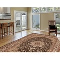 Medallion Traditional Black Rug (5'3 x 7'4)