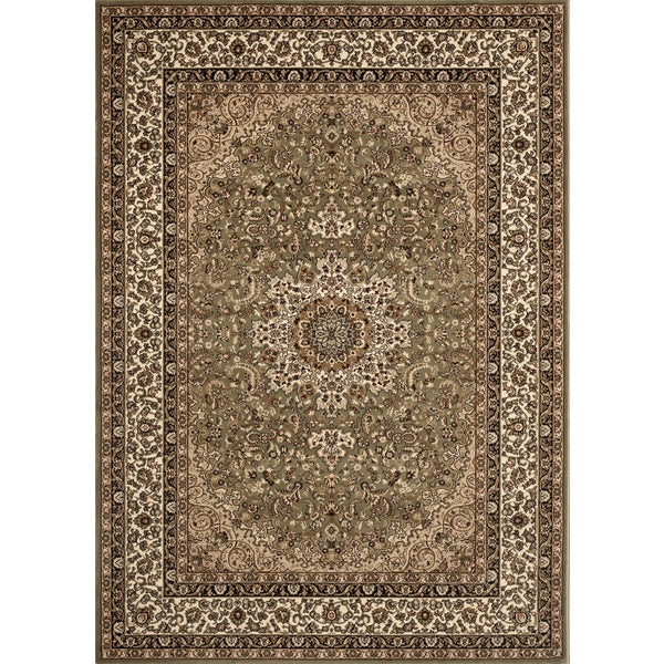 Medallion Traditional Green Rug (5'3 x 7'4) - 5'3 x 7'4 12242179