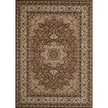 Medallion Traditional Brown Rug (4' x 5'3)