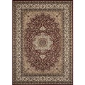 Medallion Traditional Burgundy Rug (7'10 x 10'2)