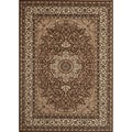 Medallion Traditional Brown Rug (7'10 x 10'2)