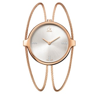 Calvin Klein Women's 'Agile' Rose Gold PVD Coated Stainless Steel Swiss Quartz Watch
