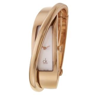 Calvin Klein Women's 'Feminine' Rose Gold PVD Coated Stainless Steel Swiss Quartz Watch
