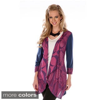 Women's Colorblocked Spliced Cardigan