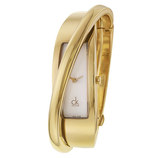 Calvin Klein Women's Yellow Gold-Tone Stainless Steel Swiss Quartz Watch 12242536