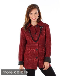 Women's Crushed Button-front Jacket
