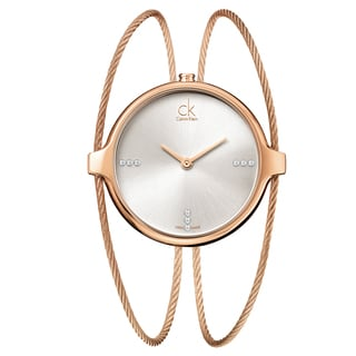 Calvin Klein Women's 'Agile' Rose Gold-Tone Stainless Steel Swiss Quartz Watch