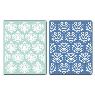Sizzix Textured Impressions Embossing Folders Classical Beauty/ Baroque Wallpaper Set