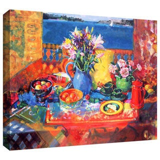 Peter Graham 'The Balcony Table' Gallery-wrapped Canvas