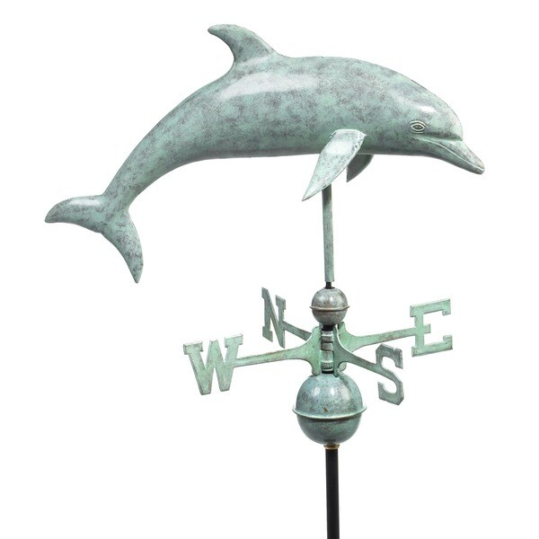 Dolphin Blue Verde Copper Weathervane by Good Directions 12242707