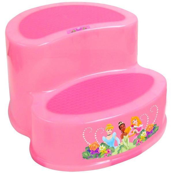 Ginsey Disney Princess 2-tier Step Stool in Pink