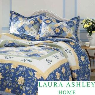 Laura Ashley Emilie 3-piece Cotton Quilt Set