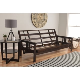 Beli Mont Multi-Flex Futon Frame in Espresso Wood (Mattress not included)