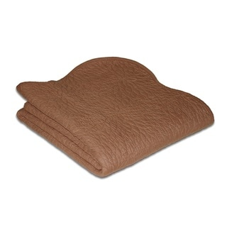 Serenity Chocolate Quilted Throw