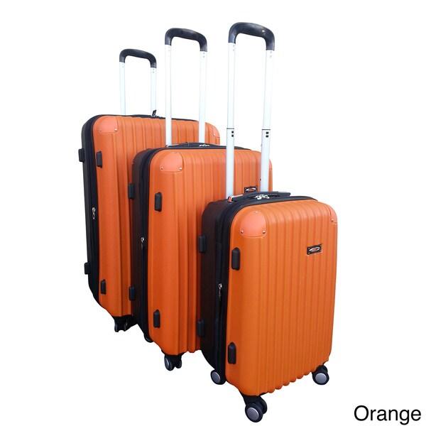 Kemyer Two-tone 3-piece Hardside Spinner Luggage Set