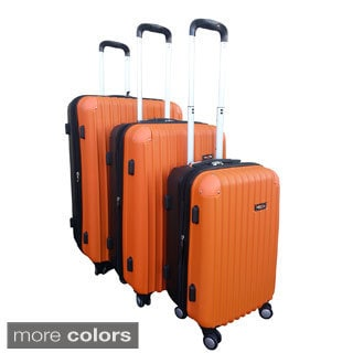 Kemyer Two-tone 3-piece Hardside Spinner Luggage Set