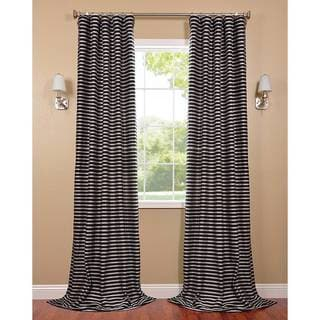 Black and Silver Casual Cotton Curtain Panel
