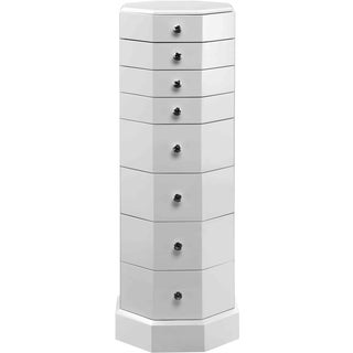 Liddell White Octagonal 8-drawer Chest