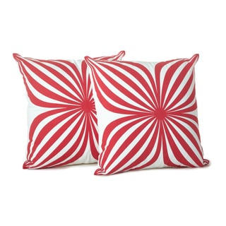 Pinwheel Design Down Filled Decorative Throw Pillow