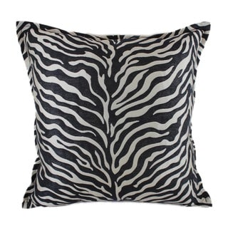 Sherry Kline 'True Safari' Black 18-inch Throw Pillow