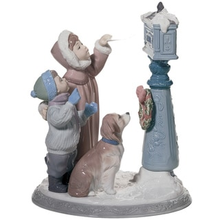 Lladro 'Holiday Wishes' Porcelain Figure