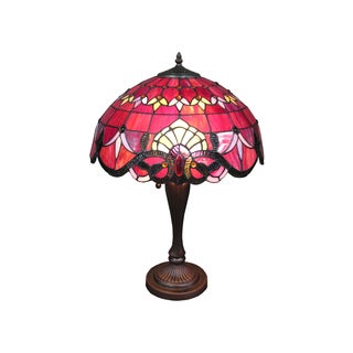 'Ecota' Tiffany Style 2-light Table Lamp