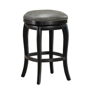 Marion Bar Height Stool in Black and Grey