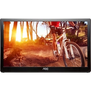 "AOC E1659FWU 16"" USB Portable LED LCD Monitor - 16:9 - 8ms - USB 3.0"