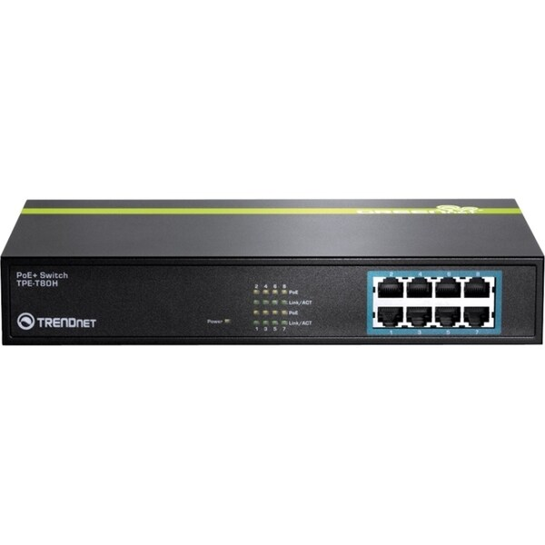 TRENDnet 8-Port 10/100 Mbps PoE+ Switch