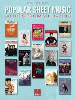 Popular Sheet Music - 30 Hits from 2010-2013: Piano, Vocal, Guitar (Paperback)