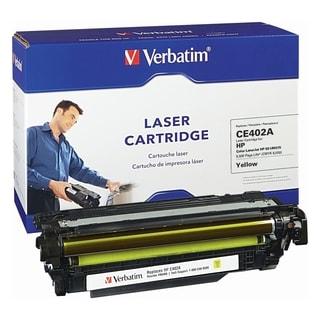 Verbatim HP CE402A Yellow Remanufactured Laser Toner Cartridge - TAA
