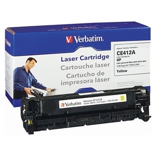Verbatim HP CE412A Yellow Remanufactured Laser Toner Cartridge