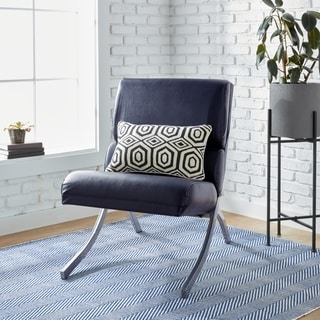 Rialto Navy Bonded Leather Chair