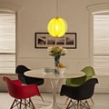 Brush Yellow Acrylic Pendant Light