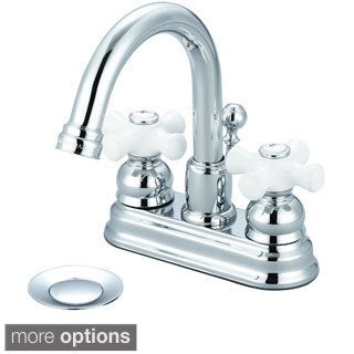 Pioneer Brentwood Two-handle Lavatory Faucet with Porcelain Cross Handles
