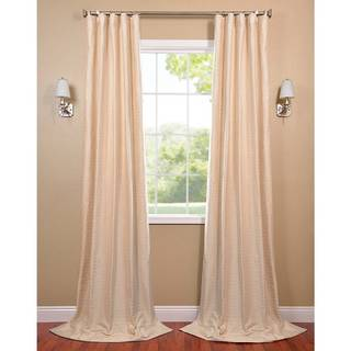 Pearl White Hand-Woven Cotton-blend Curtain Panel