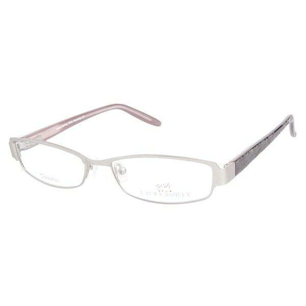 Laura Ashley Girls Heavenly Silver Prescription Eyeglasses