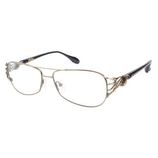 Affliction Damian Black Antique Gold Prescription Eyeglasses