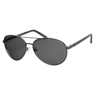 Tumi Newport Brushed Silver 60 Polarized Sunglasses