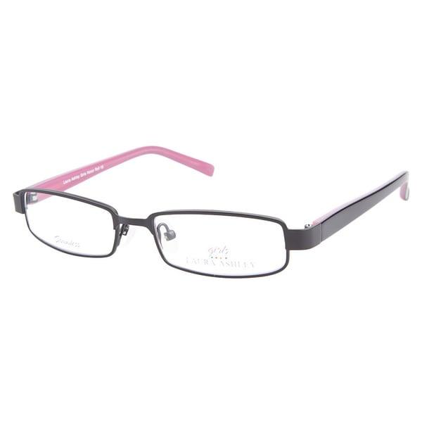 Laura Ashley Girls Honor Roll Girly Black Prescription Eyeglasses